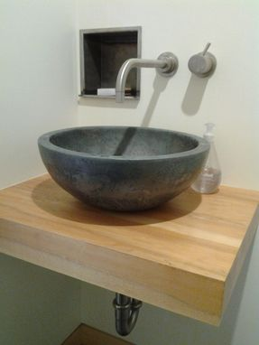 When I Was Out Shopping For Storage Containers For The Vanity, I Found  Wooden Bowls That Were A Perfect Size For A Vessel Sink. And, Because The  Bowls Were ...