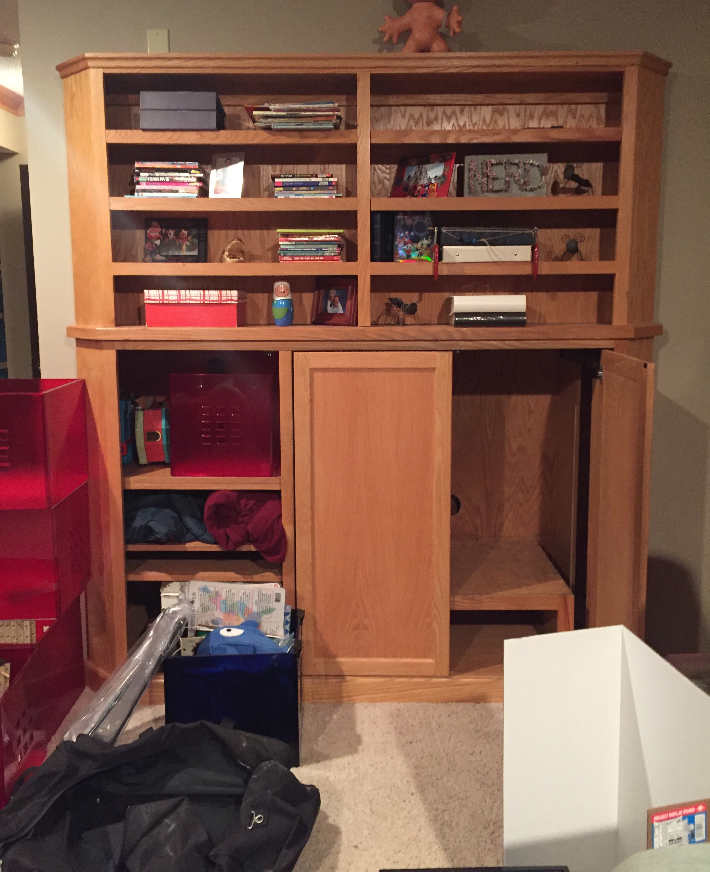 Man Cave In Storage Unit : Boy cave built in media unit diy nice things